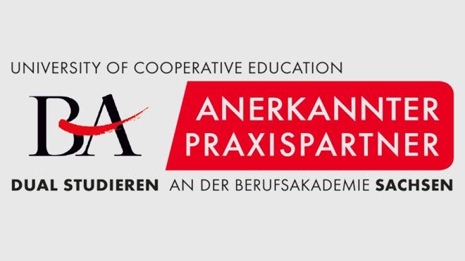 Siegel der Berufsakademie Sachsen für anerkannte Praxispartner