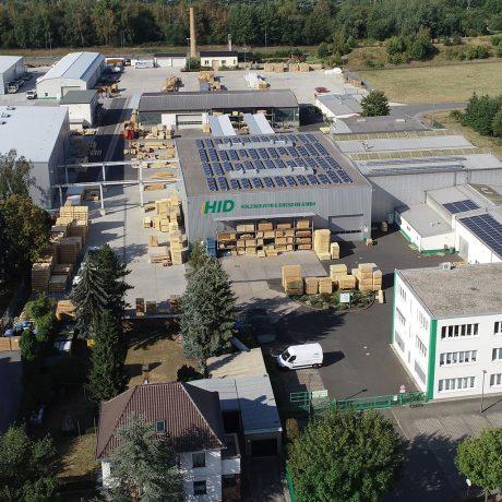 Holzindustrie Dresden Unternehmen Luftaufnahme